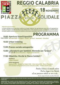 Piazza Solidale Regionale - Autunno 2018 - Reggio Calabria